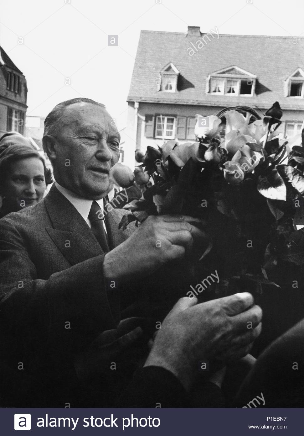 Adenauer Rose West German Elections 1953 Chancellor Konrad Adenauer S Christian