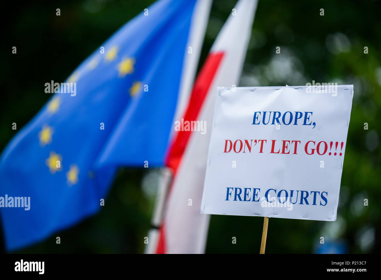 Placard But Krakow Poland 13th June 2018 A Placard Saying Europe Don T