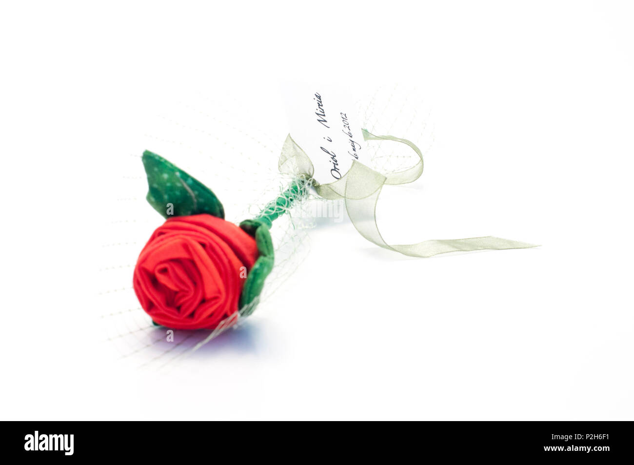 Regal Rosa Rosa Regal De Boda Pink Roses Set Made Of Clothes Stock Photo