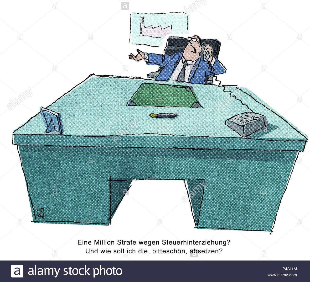 Home Office Absetzen Boss Cartoon Stock Photo 209041104 Alamy