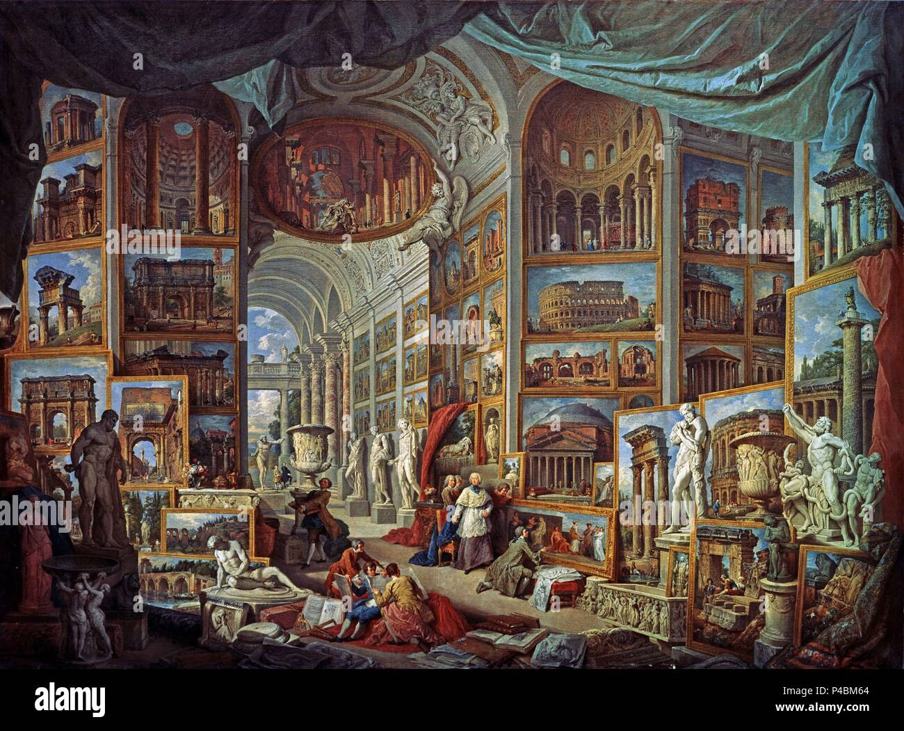 Pinturas Antiguas Giovanni Paolo Pannini Stock Photos And Giovanni Paolo