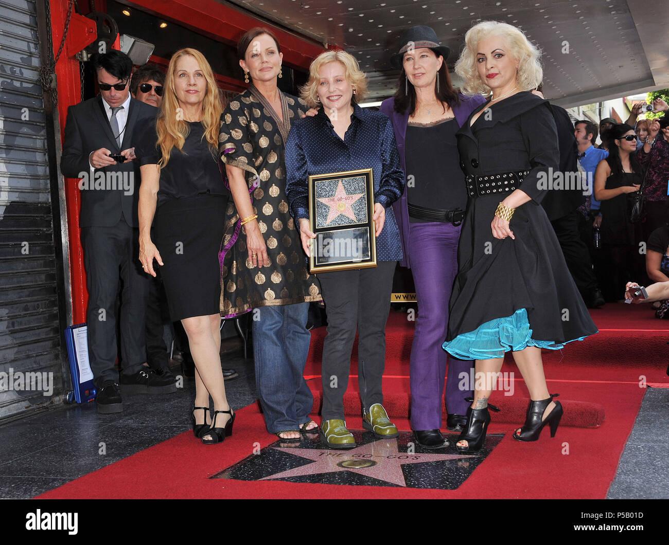 Belinda Carlisle And Kathy Valentine Stock Photos