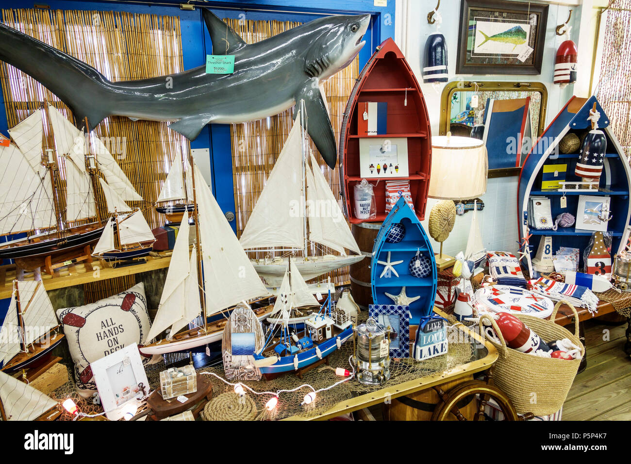 Nautical House Decor Stuart Florida Nautical But Nice Shopping Souvenirs Display Sale