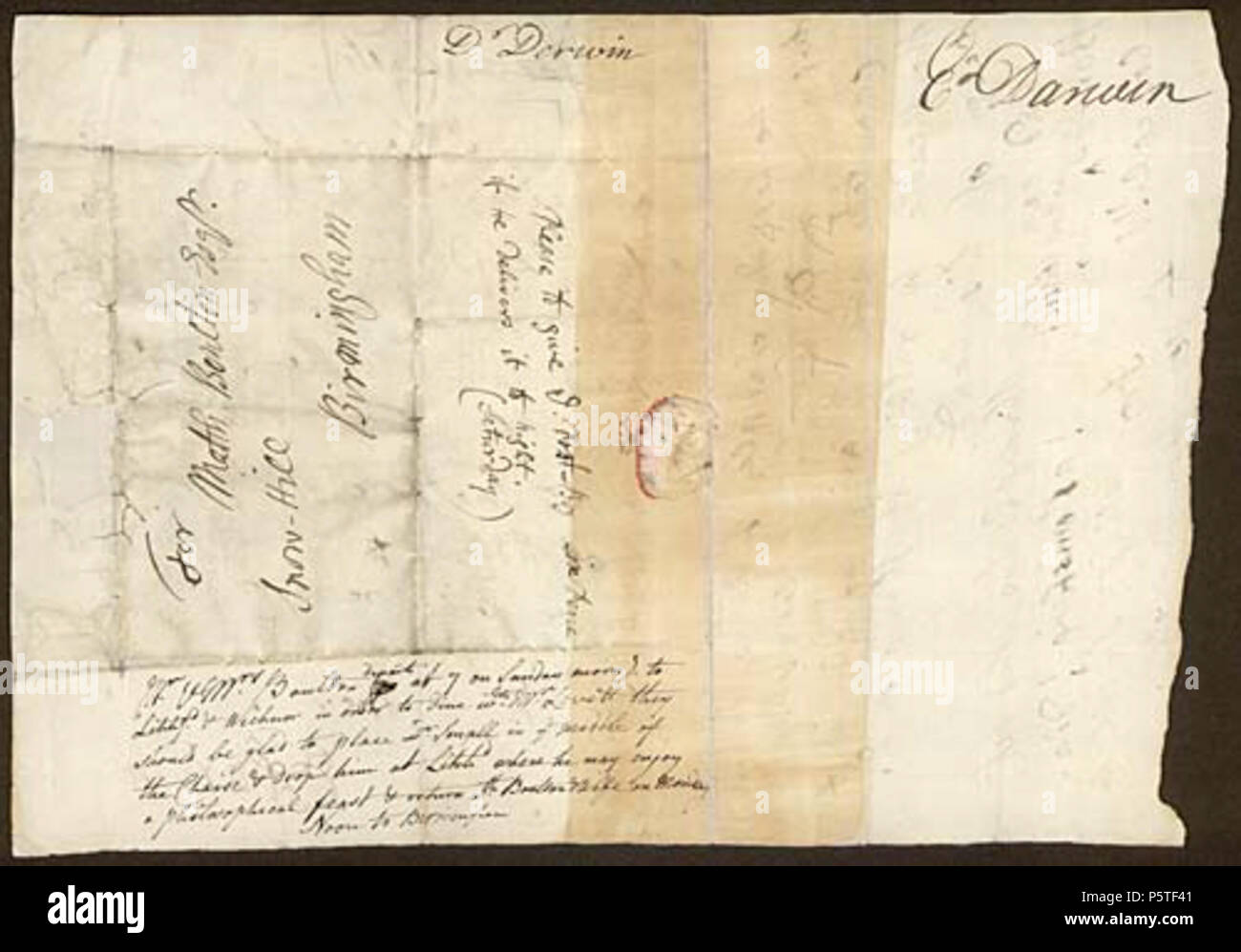 Chaise Darwin N A English Letter Of 1766 From Physician And Member Of The