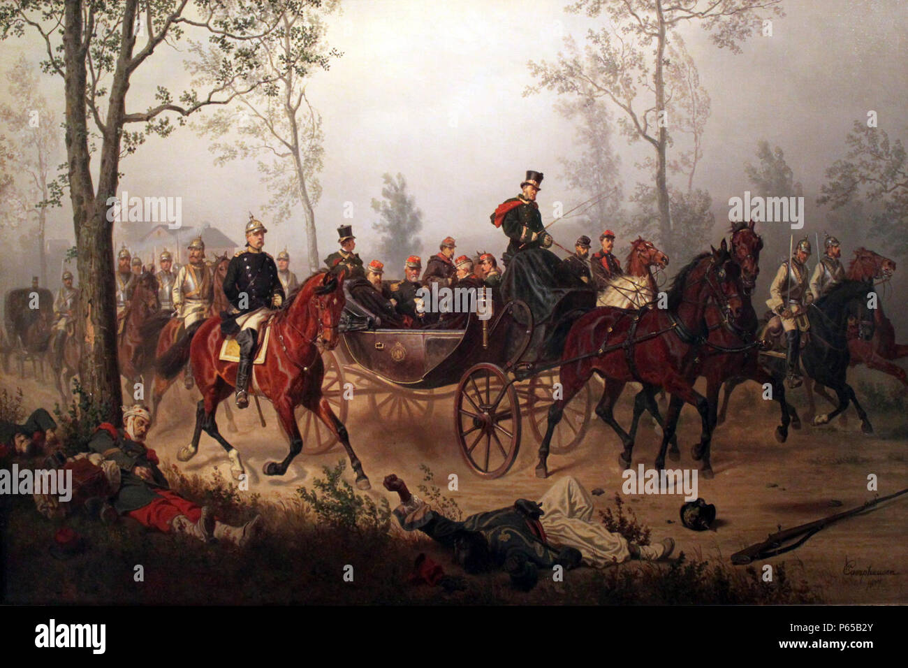 Kaiser Bonaparte Tapijt Bismarck And Napoleon Iii Stock Photos Bismarck And Napoleon Iii