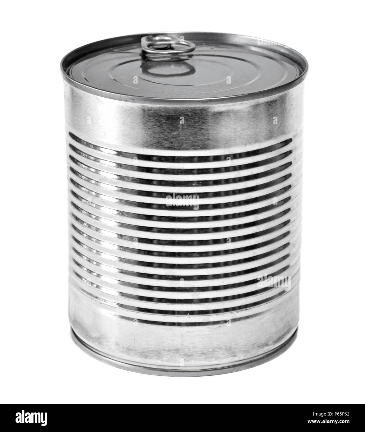 Lit Metal Metal Can Or Aluminum Lit Isolated On White Background Conserved