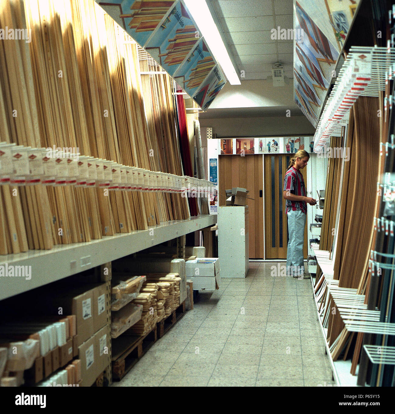 Bunnings Vinyl Floor Covering Hardware Store Shelves Stock Photos And Hardware Store