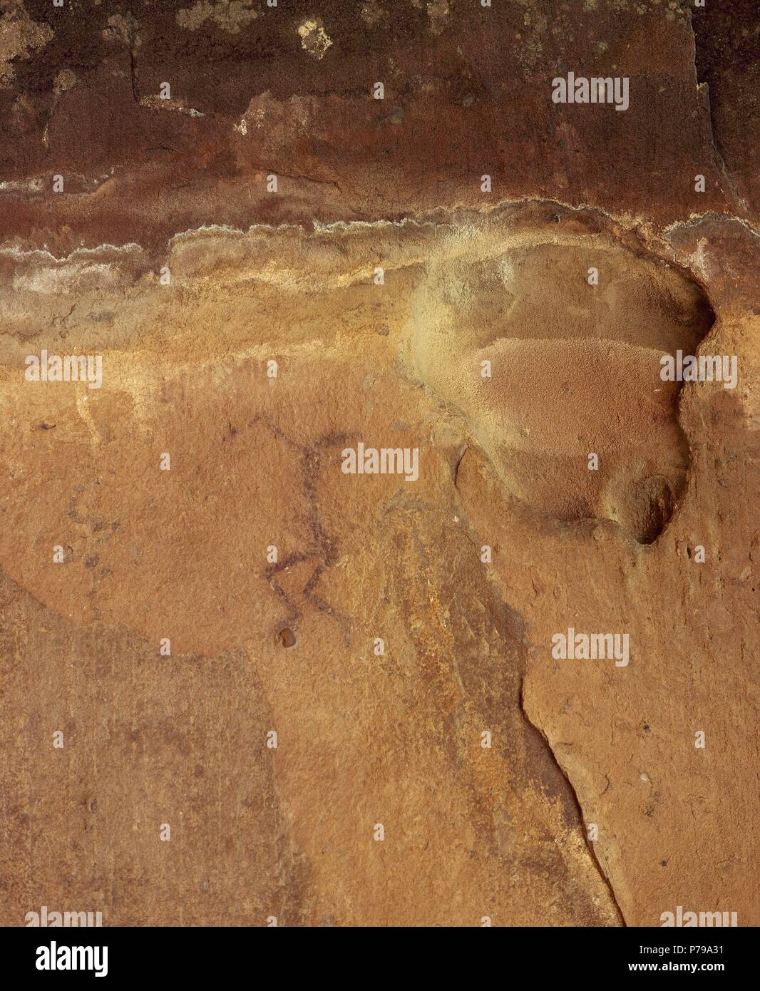 Cuevas Con Pinturas Rupestres En España Levantine Cave Rock Art Stock Photos And Levantine Cave Rock