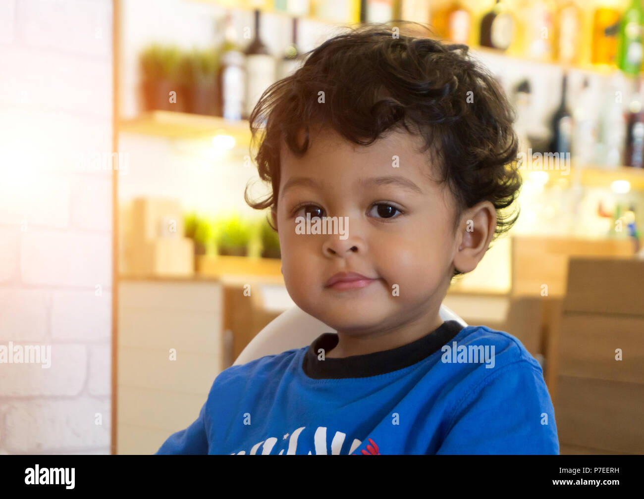 2 Kid 2 Year Old Asian Baby Boy Smile And Happiness Emotion Face Or
