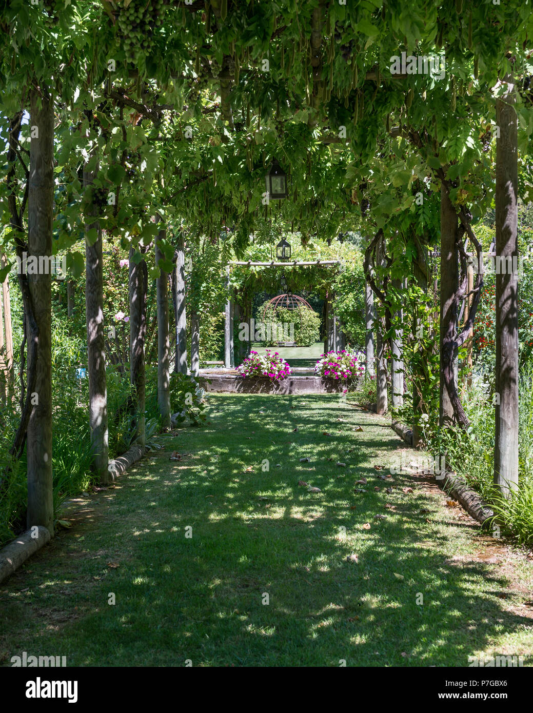 St Remy Shaded Pergola In Garden Grounds Of 18th Century Chateaux In St