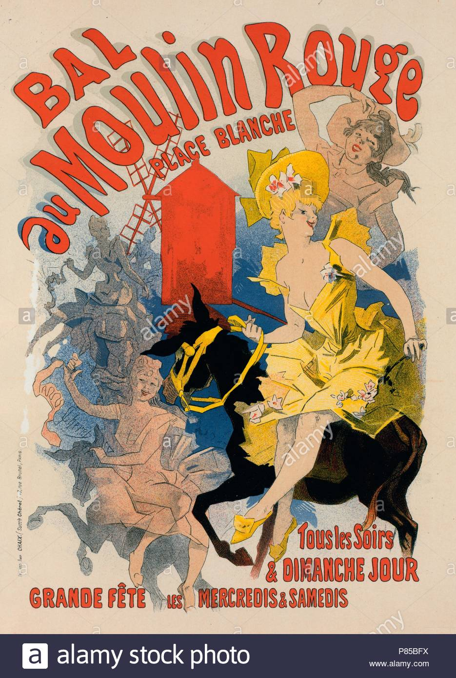Moulin Rouge Libro Golden Age Of Advertising Lithograph Stock Photos Golden Age Of