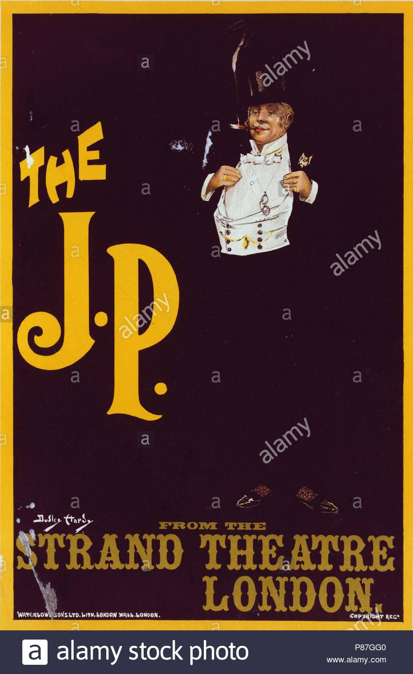 Poster Strand English Poster The J P For The Strand Theatre London Uk Hardy