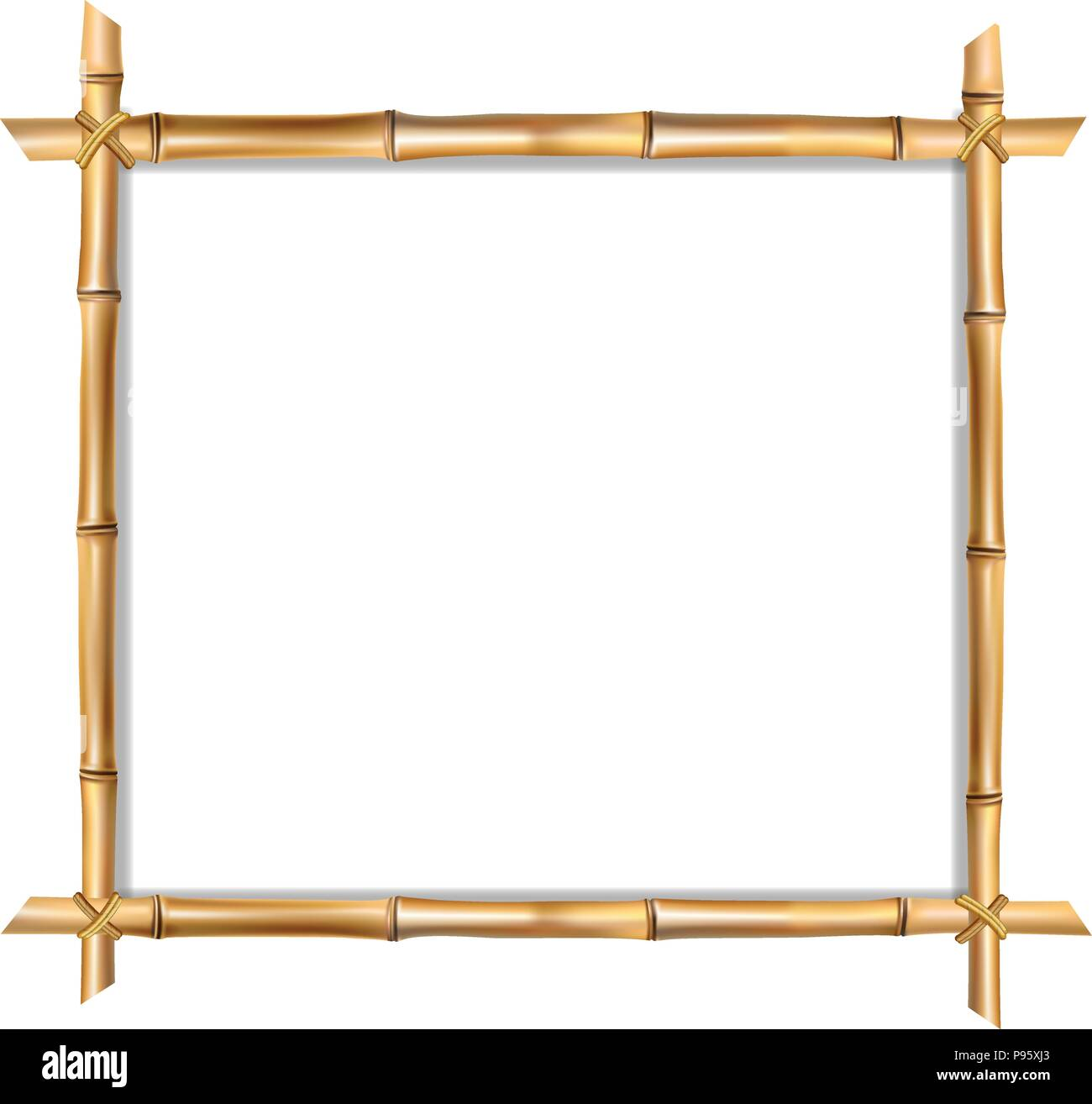 Houten Border Square Brown Wooden Border Frame Made Of Realistic Brown
