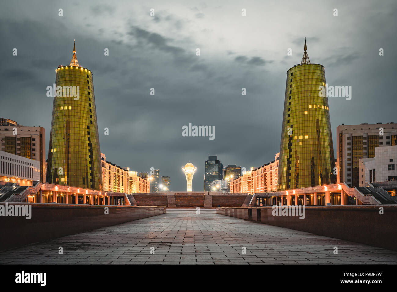 Tivoli Golden Tower Beer Golden Building Kazakhstan Stock Photos And Golden Building