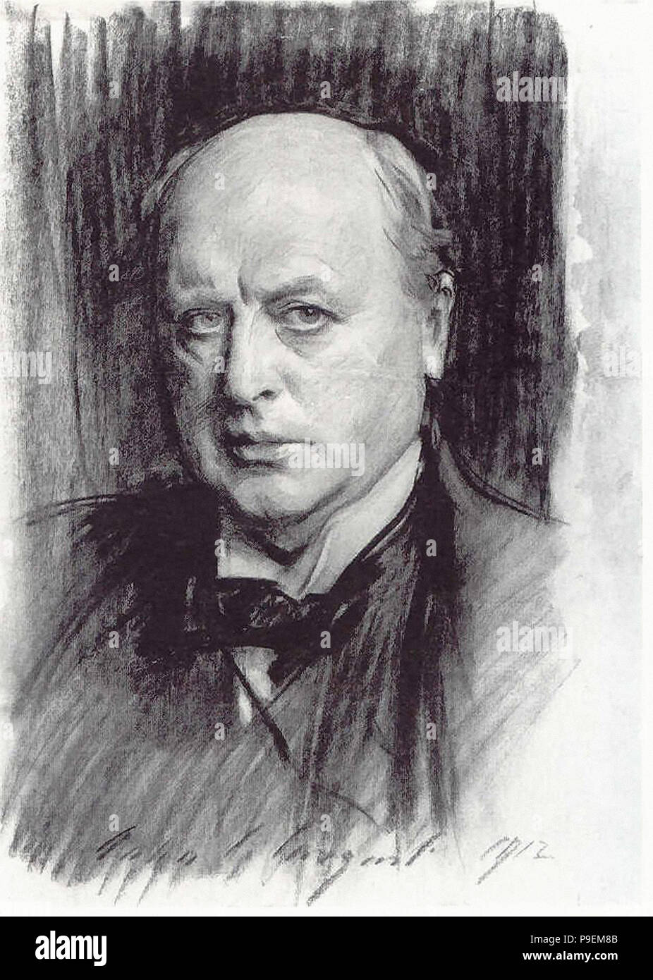 Henry James Sargent John Singer Henry James 1 Sketch Stock Photo 212379563