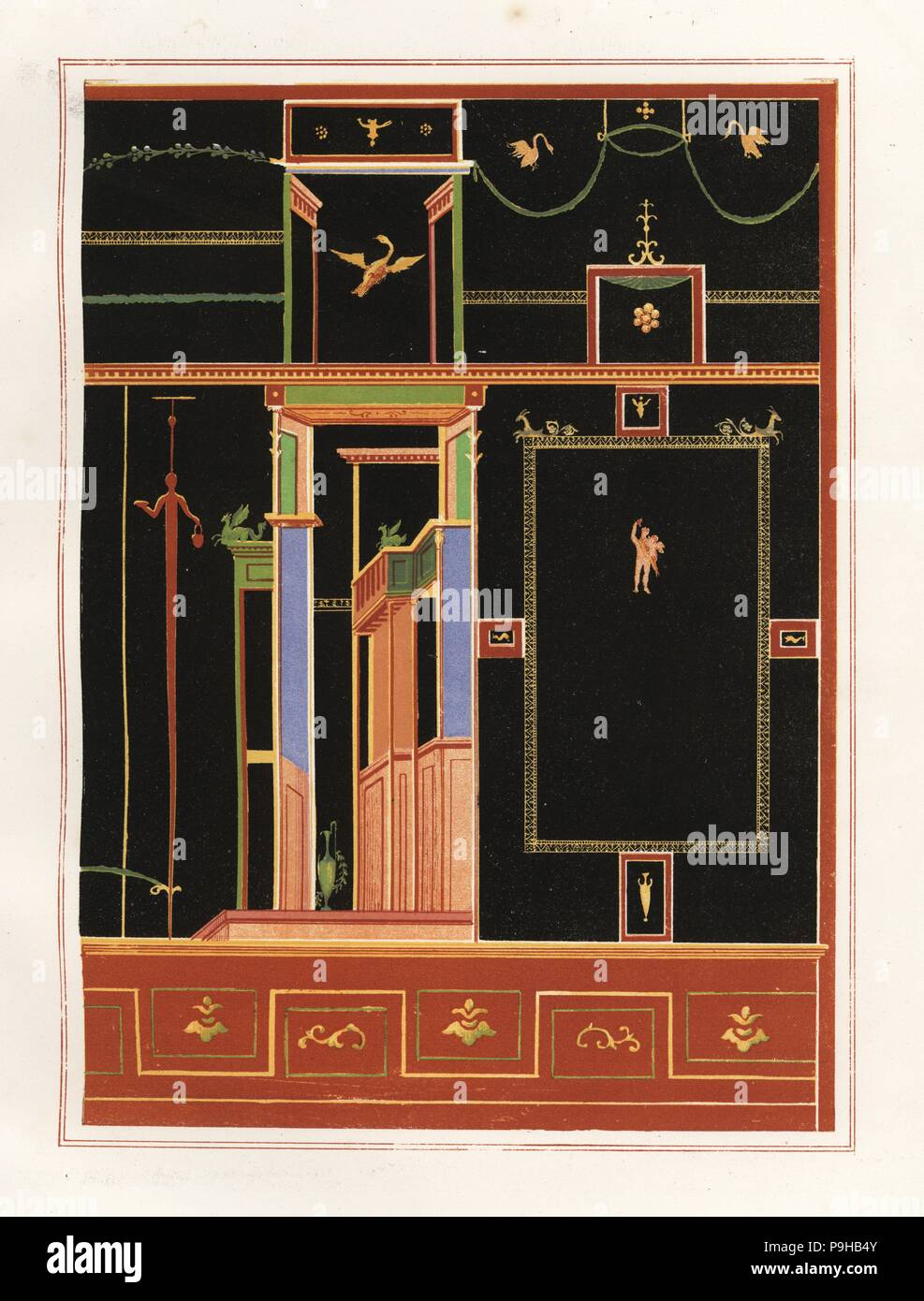 Peintures Mural Mural From Unidentified Building In Pompeii Chromolithograph By