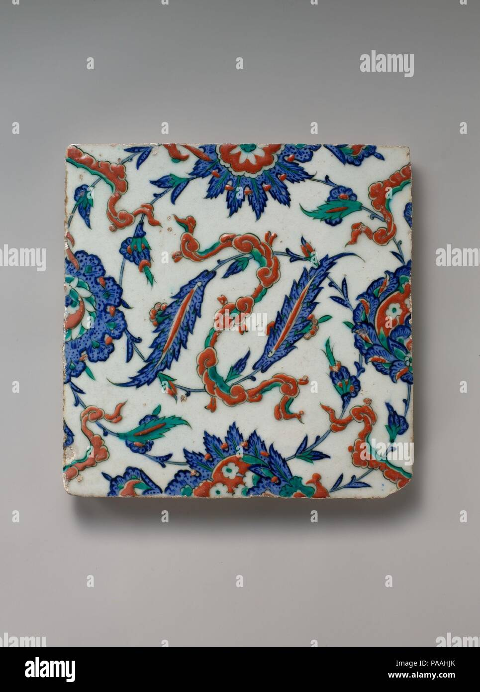 9 To Cm Tile With Floral And Cloud Band Design Dimensions H 9 13 16 In