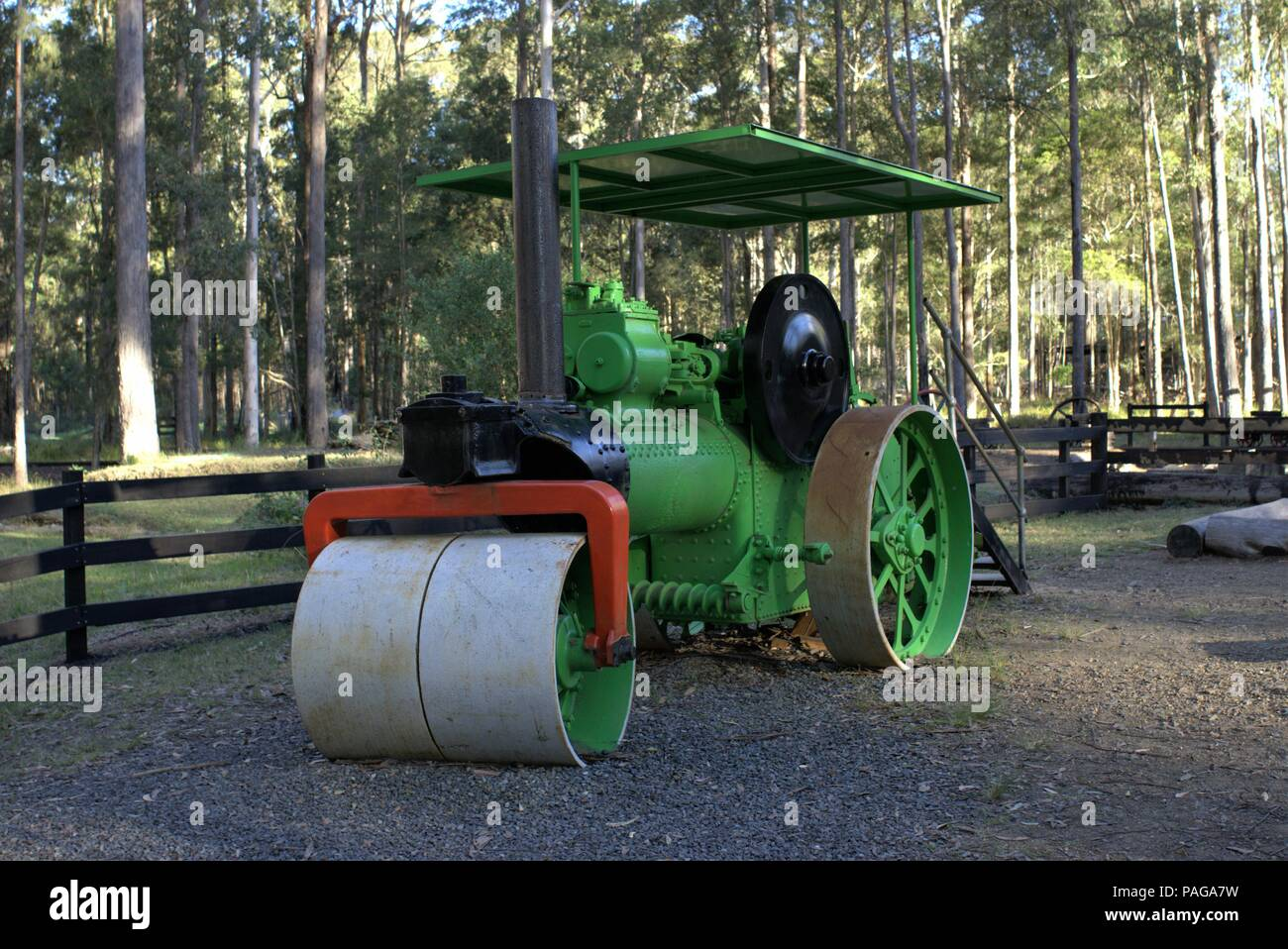 Roller Australia Vintage Road Roller At Timbertown Wauchope In Australia As On 9
