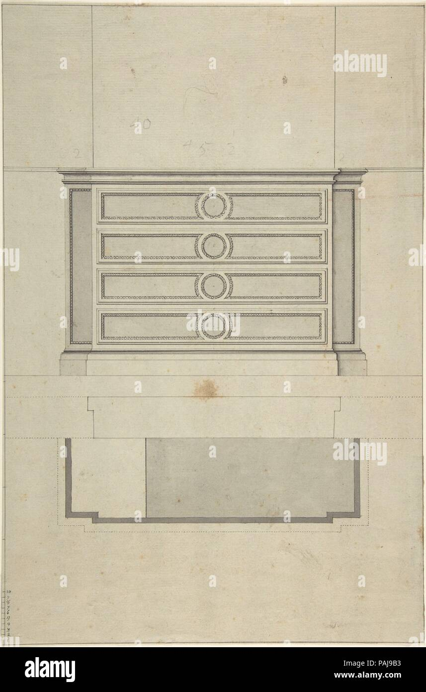 Design For Furniture Artist Anonymous French 19th Century Dimensions Sheet 13 7 16 X 8 15 16 In 34 1 X 22 7 Cm Date 19th Century Museum Metropolitan Museum Of Art New York Usa Stock Photo Alamy