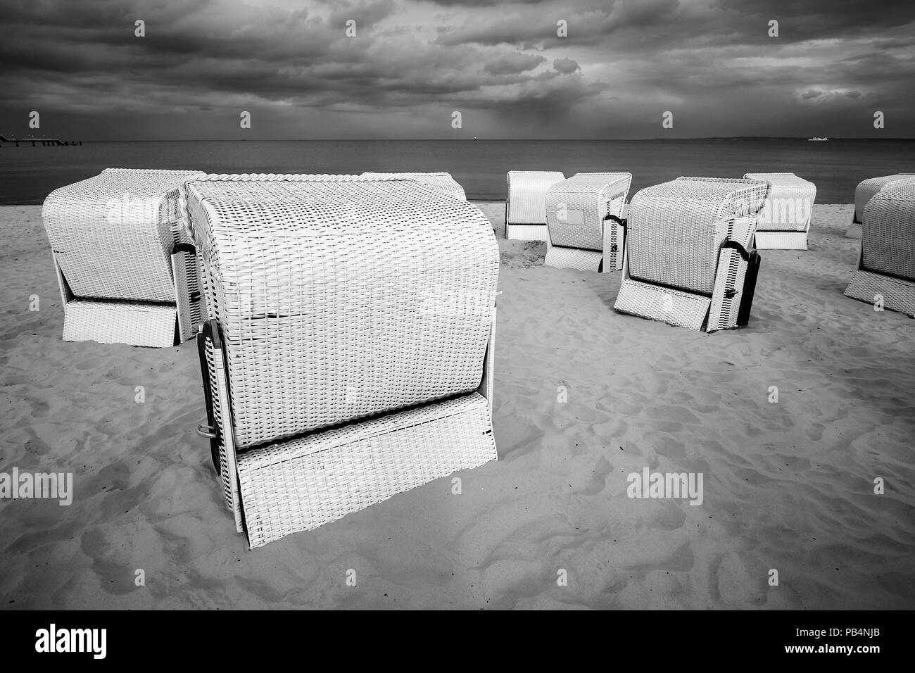 Shabby Chic Cuxhaven Basket Chairs Stock Photos Basket Chairs Stock Images Alamy
