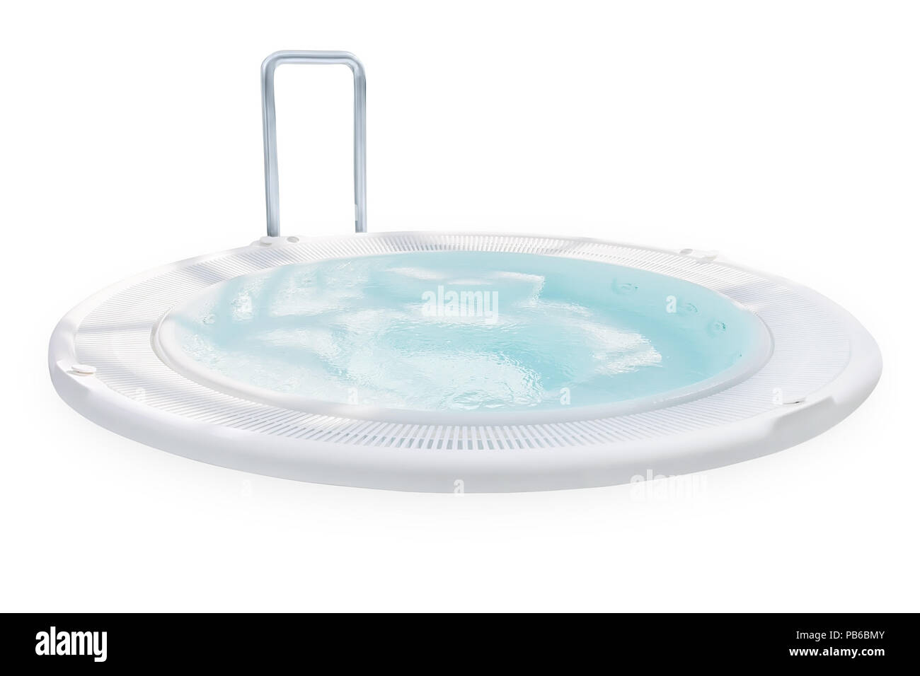 Jacuzzi Pool Main Drain Swimming Pool With Jacuzzi Isolated With Clipping Path Stock