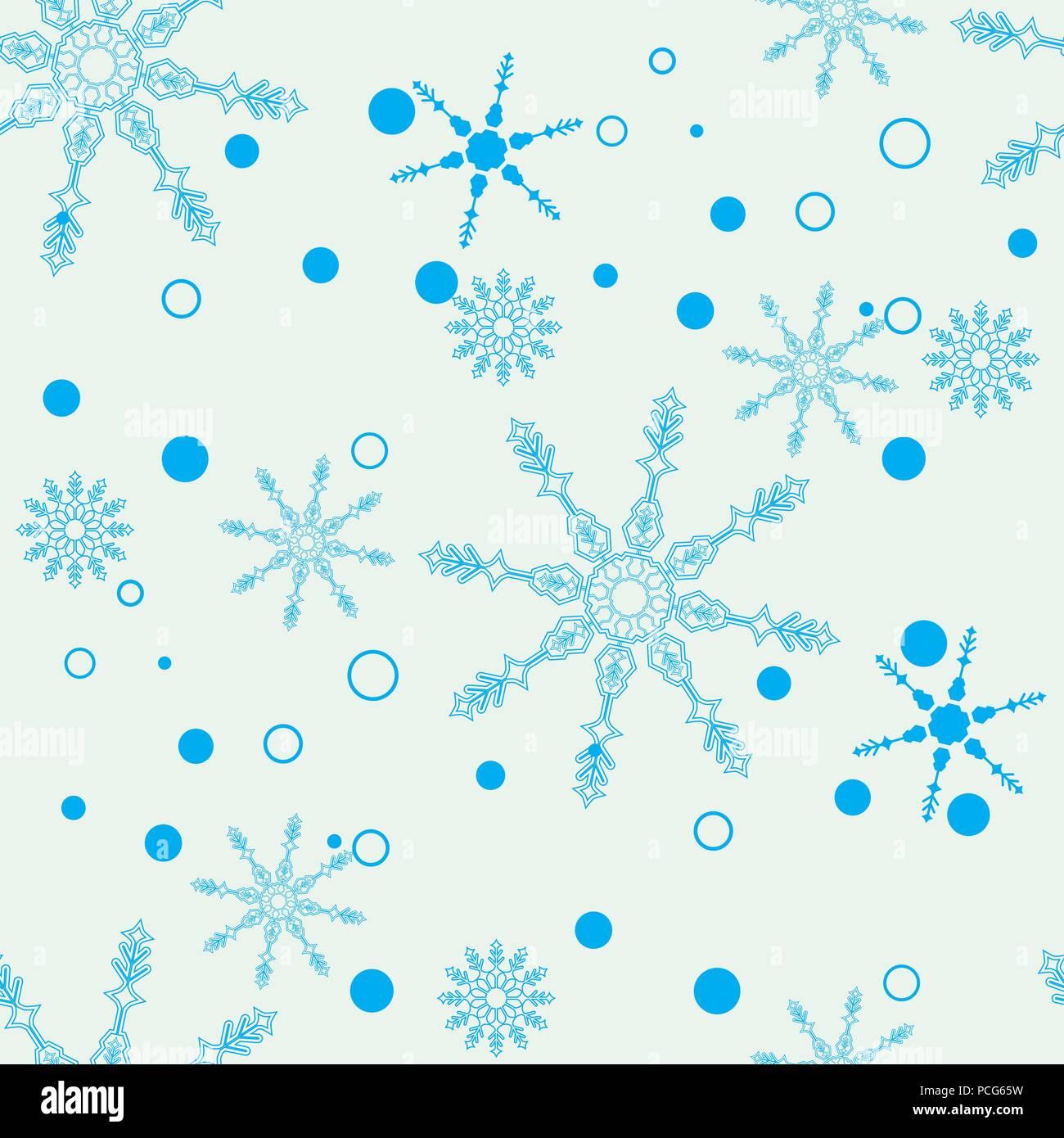Christmas Wallpaper Snow Falling Snowflake Simple Seamless Pattern Blue Snow On White