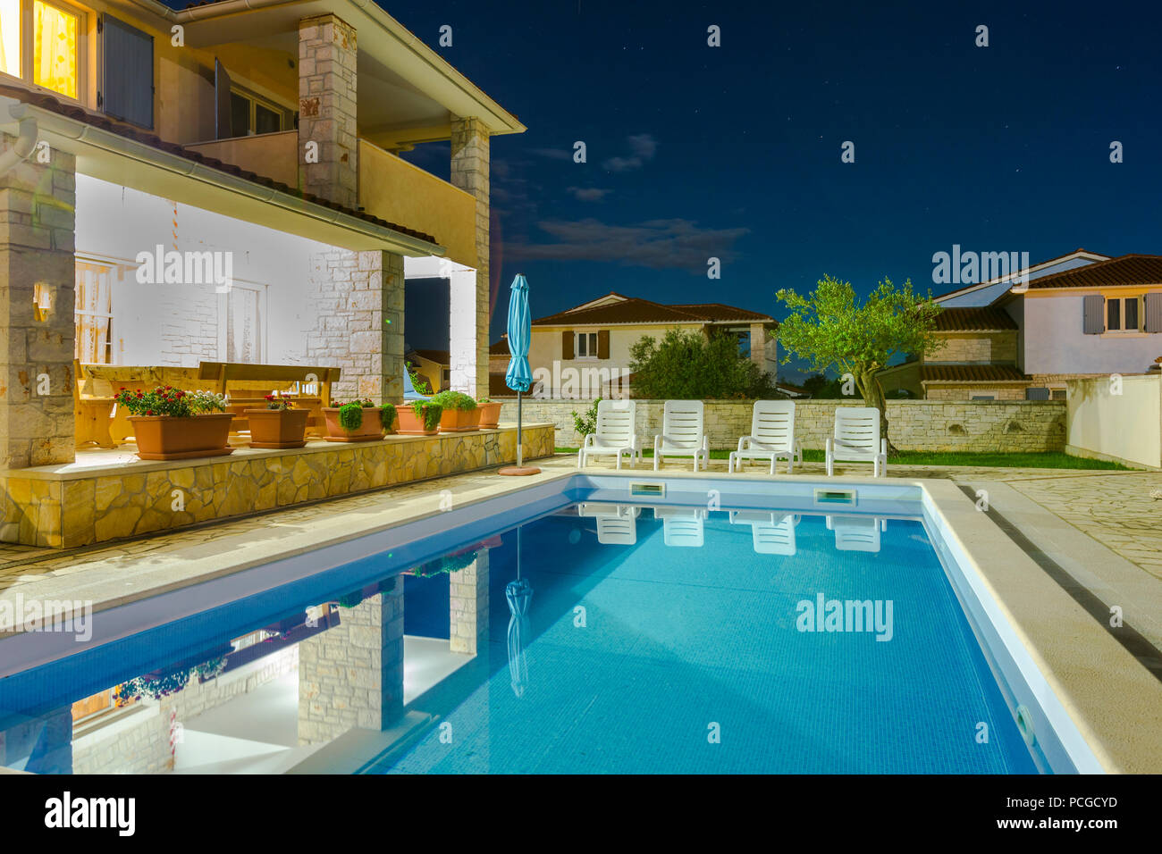 Ferienhaus Kroatien Mit Pool Porec Istrien Stock Photos And Istrien Stock Images Alamy