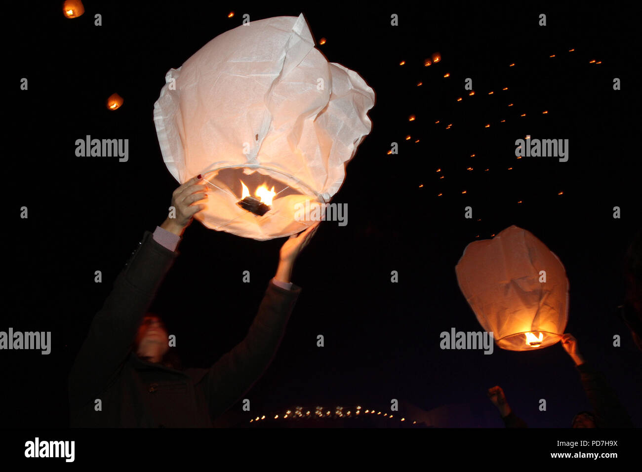 China Diwali Light Chinese Paper Lanterns Sky Stock Photos And Chinese Paper