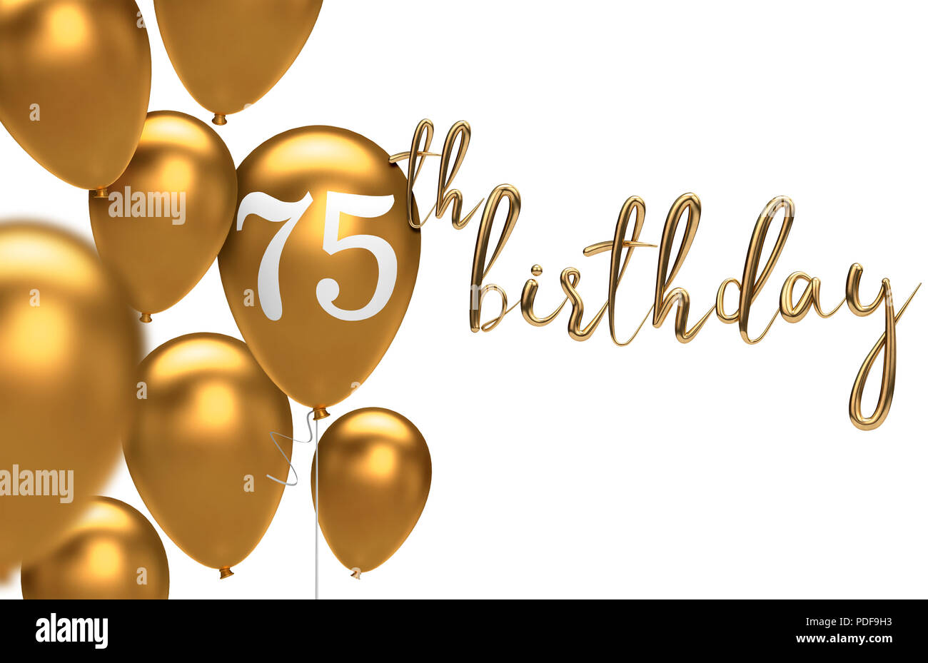 3d Candle Live Wallpaper Gold Happy 75th Birthday Balloon Greeting Background 3d