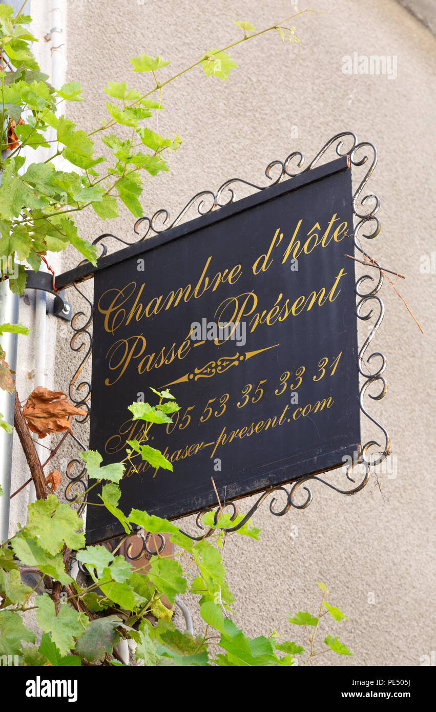 Chambre D Hote Bergerac France Chambre D Hote Sign Bergerac Dordogne France Stock Photo