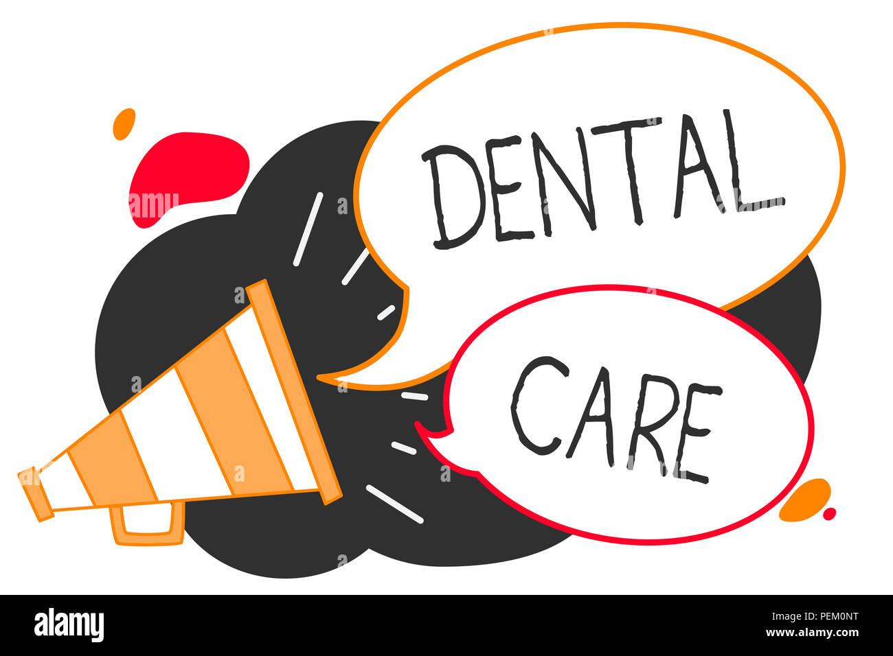 Keep It Clean Handwriting Text Writing Dental Care Concept Meaning Maintenance