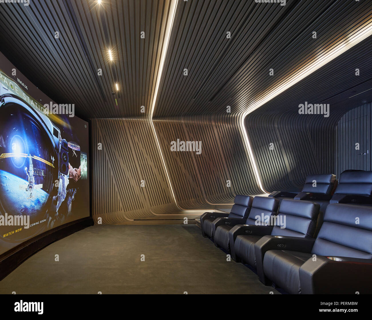 Architecte D'intérieur New York Interior View Of Cinema Room 520 West 28th Street New York City