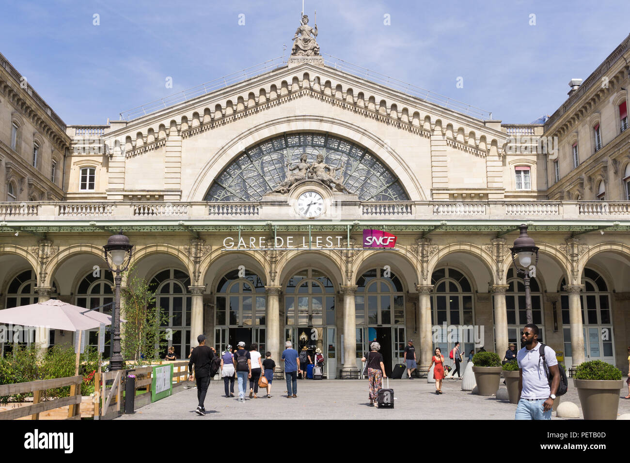 Gare De Paris Gare De L Est Train Station In Paris France Stock Photo
