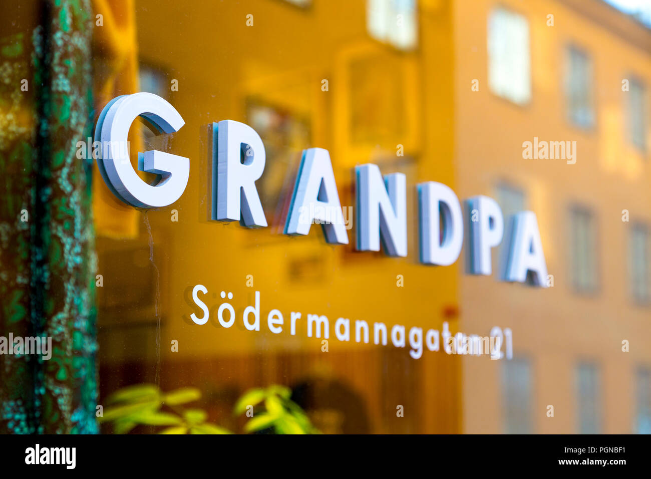 Grandpa Stockholm The Front Window Of Scandinavian Lifestyle Shop Grandpa In Sofo