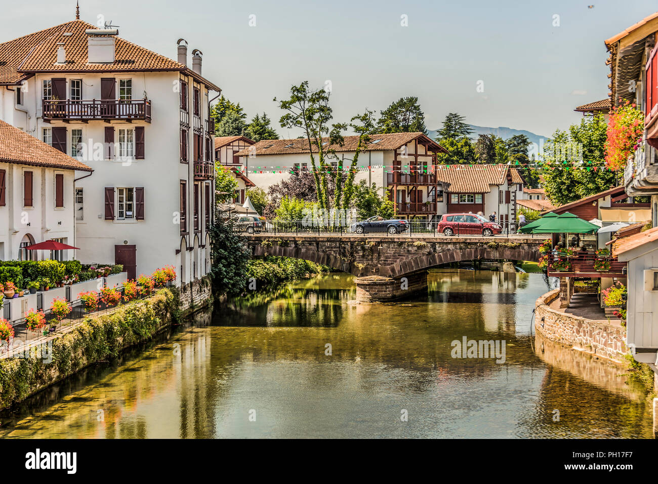 Saint Jean Pied De Port Bridge Of The Main Street Of The Village Saint Jean Pied De Port