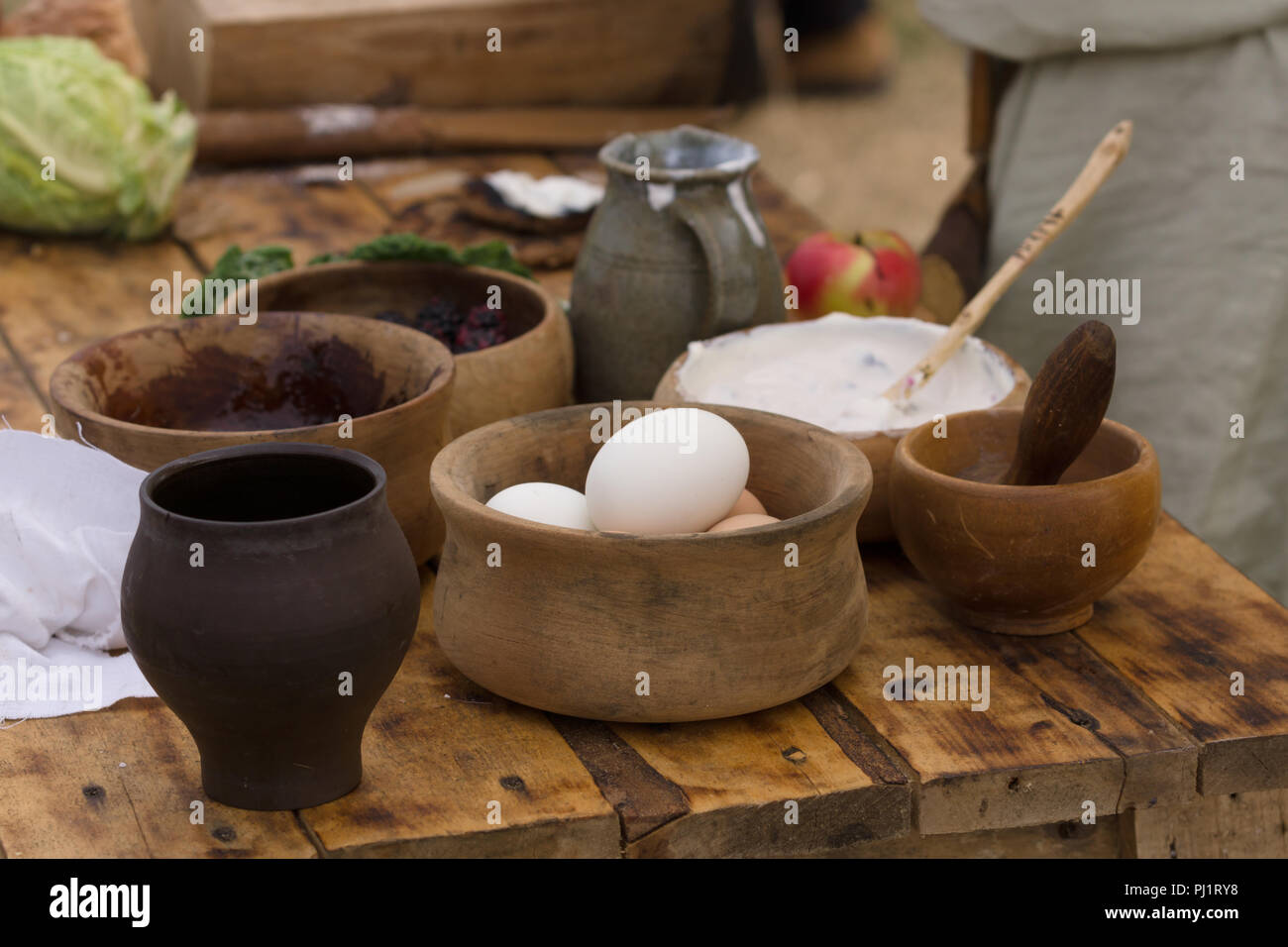 Küche Modern Creme Life In Middle Ages Stock Photos Life In Middle Ages Stock