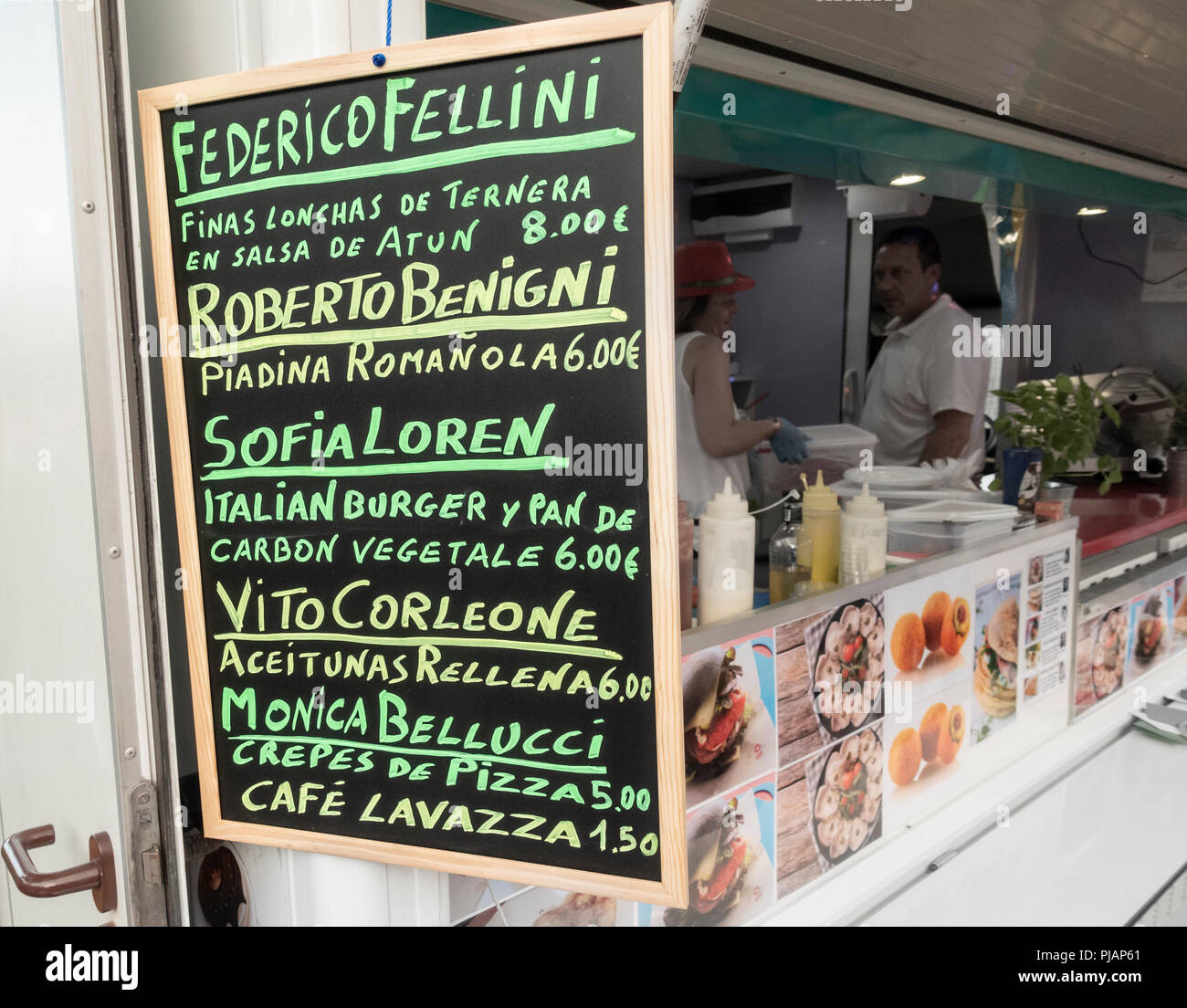 Arte Pizza Ferrara Menu Italian Festival Stock Photos Italian Festival Stock Images Alamy