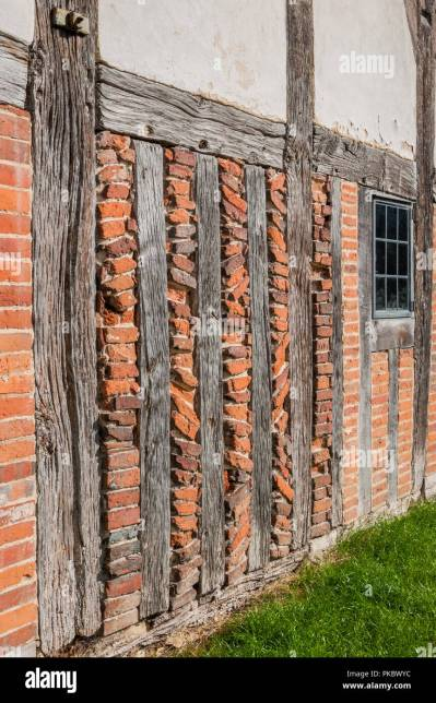 Old Wood Beams Brick Wall Stock Photos & Old Wood Beams Brick Wall Stock Images - Alamy
