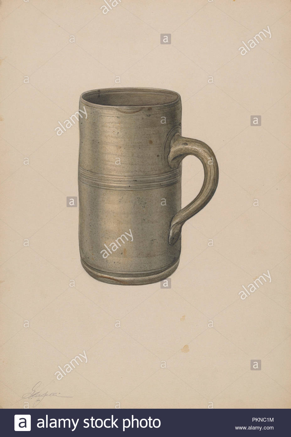 10 In Cm Mug Dated C 1940 Dimensions Overall 35 4 X 25 4 Cm 13 15 16