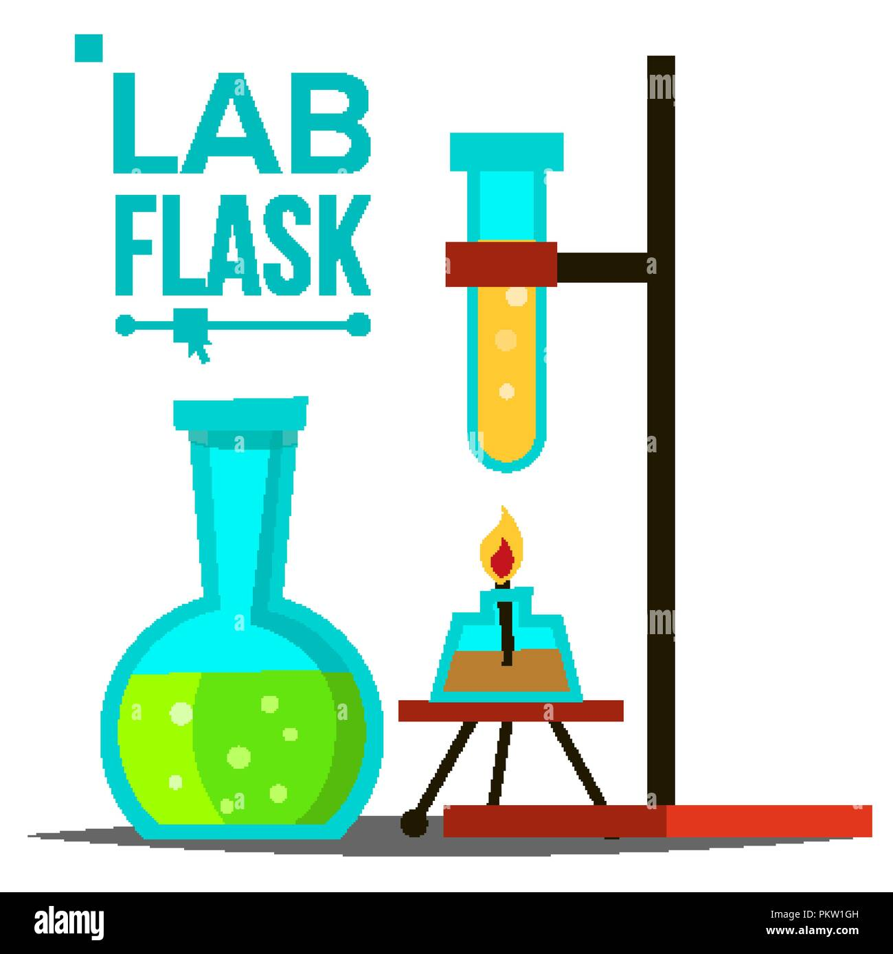 Glass Lamp Vector Laboratory Flask Vector Chemical Laboratory Equipment