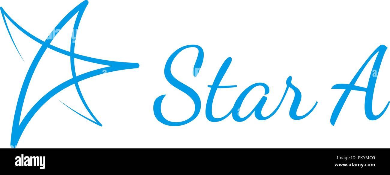 Hand drawn vector star logo Stock Vector Art  Illustration, Vector