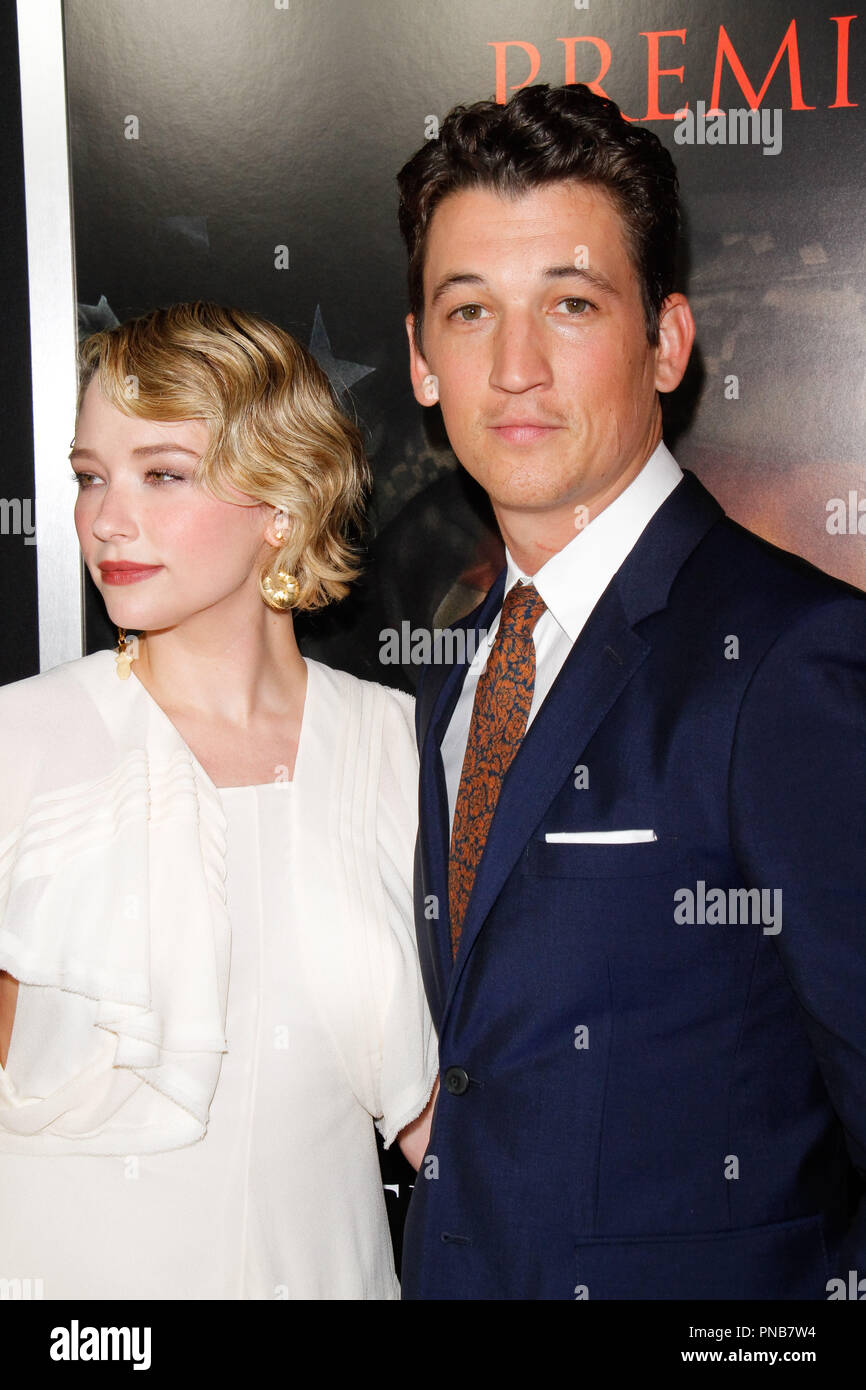Teller Regal Haley Bennett Miles Teller At The Premiere Of Dreamworks Pictures