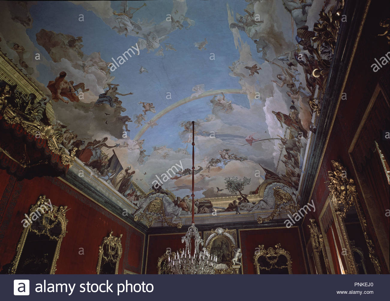 Pintura Rococo Palacio Real Madrid Throne Room Stock Photos And Palacio