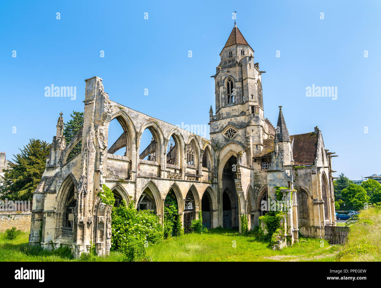 Hotel Saint Etienne Caen Caen Cathedral Normandy France Stock Photos And Caen