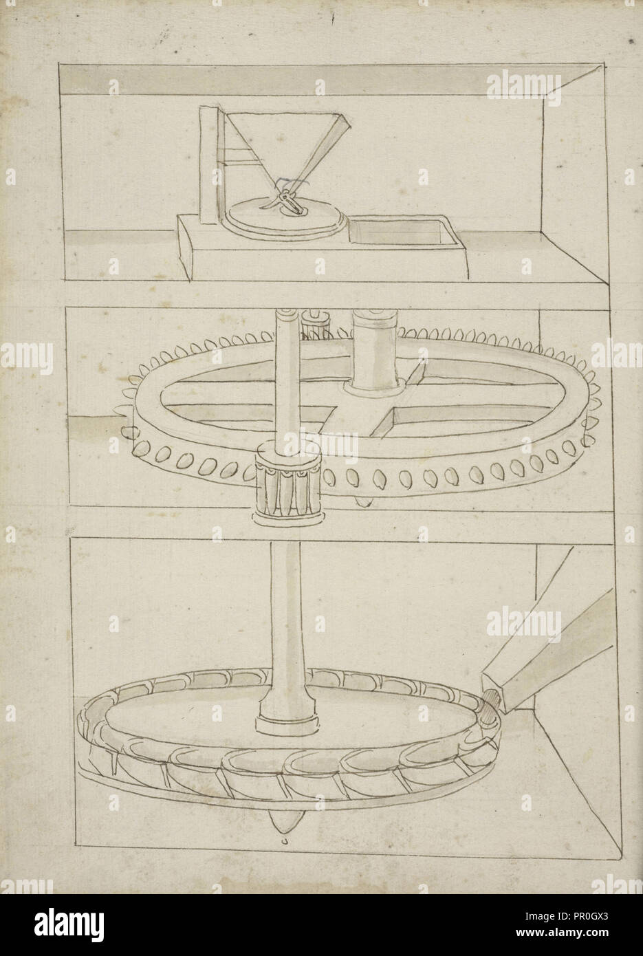 Francesco&#39 Folio 39 Mill With Horizontal Water Wheel Edificij Et Machine Ms
