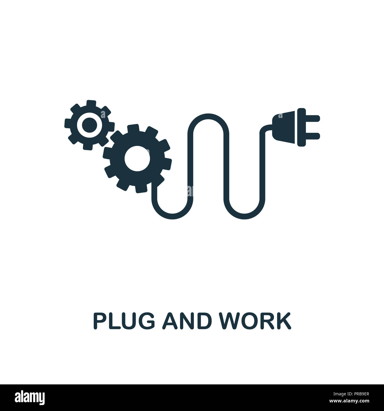 Ux Plug Plug And Work Icon Simple Style Design From Industry 4