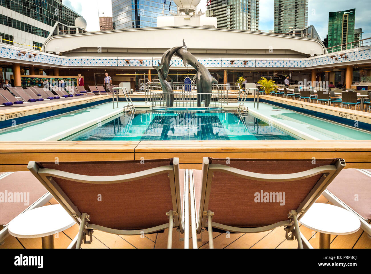 Pool With R Lido Deck Swimming Pool Under Open Retractable Magradome Roof The