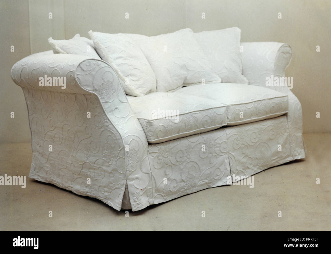 Sofa White 1990s Stock Photo Alamy