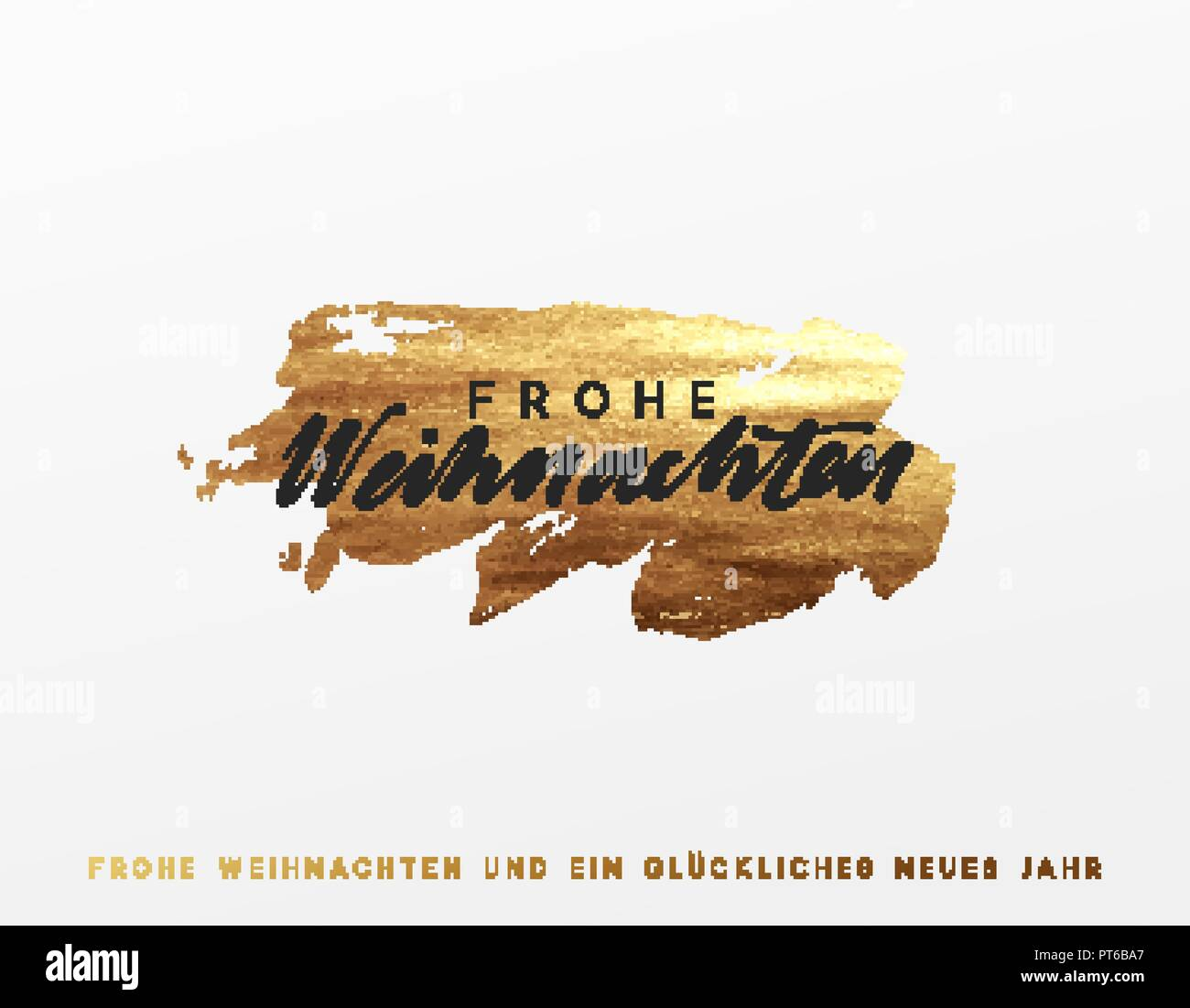 Design Weihnachten German Text Frohe Weihnachten Gold Christmas Card Design With