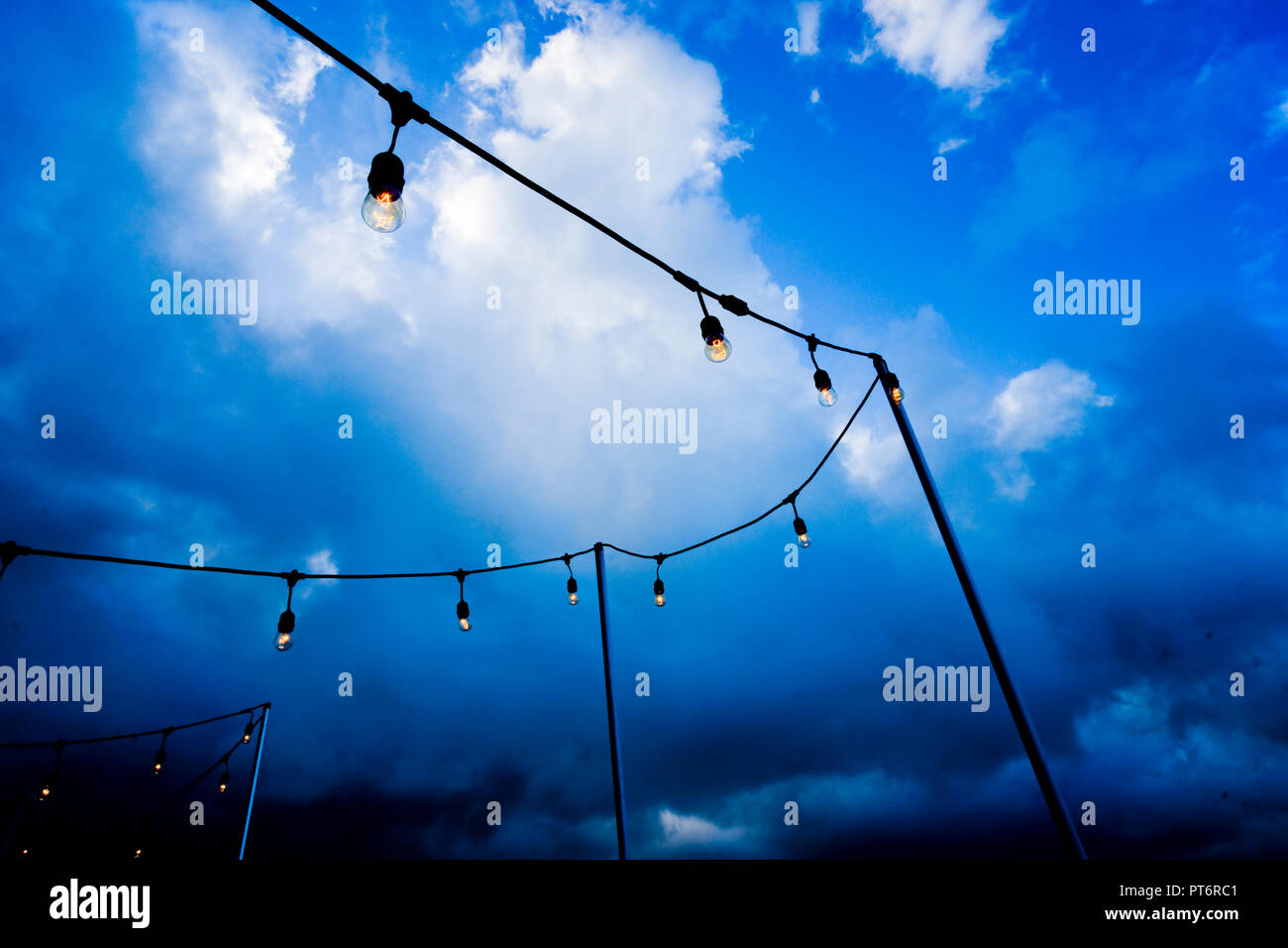 Outdoor Party Lights Outdoor Party Lights Stock Photo 221426241 Alamy